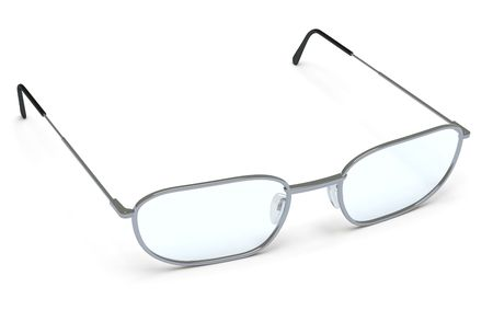 shortsighted: glasses on a white surface