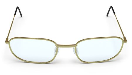 modish: glasses on a white surface