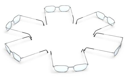 glasses on a white surface photo