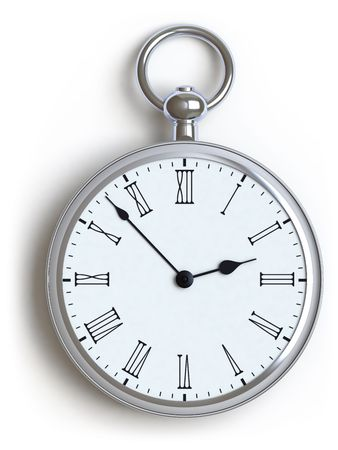 watch on a white surface Stock Photo - 6385937