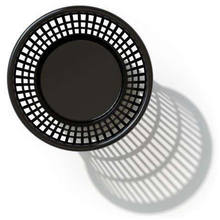lies: a basket lies on a white surface