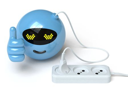 electric outlet: robot