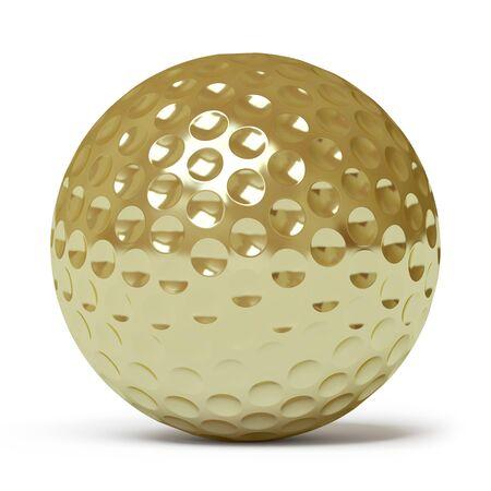 lies forward: golf ball Stock Photo