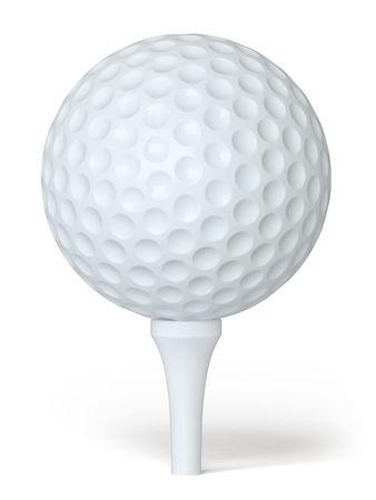 playing golf: golf ball Stock Photo