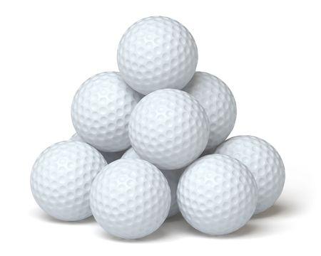 golf tee: golf ball Stock Photo
