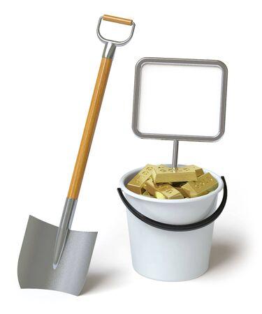 gold shovel: gold