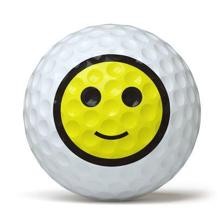 pelota caricatura: golfball Foto de archivo