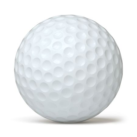 golf ball: golfball Stock Photo