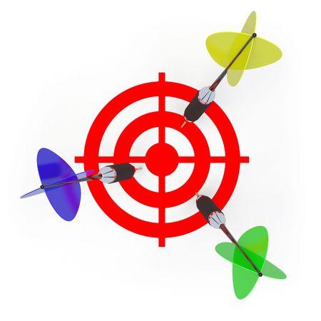 miss: dart Stock Photo