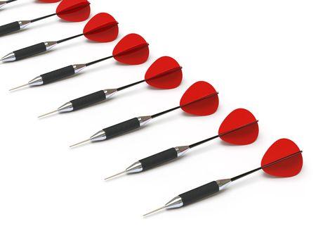 holed: dart Stock Photo