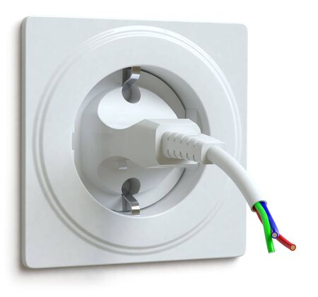power failure: electric plug