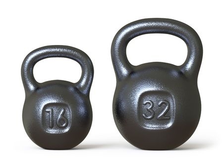 shove: dumbbell Stock Photo