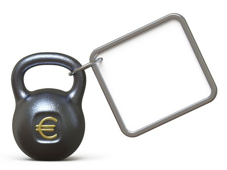 dumbell: currency Stock Photo