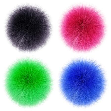 fluffy balls Stock Photo