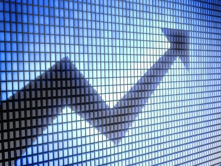 investor: graph Stock Photo