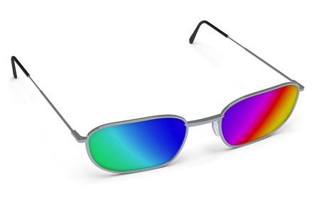 shortsighted: eye-glasses
