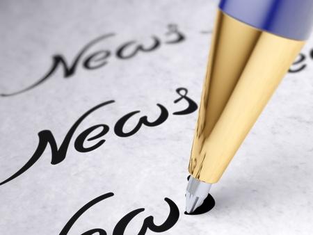 ball pens stationery: noticias Foto de archivo