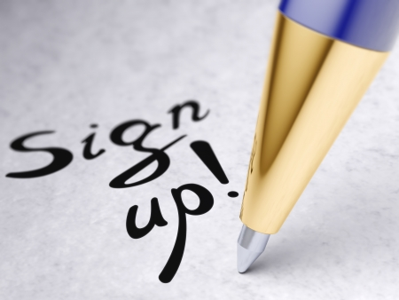 sign up Stock Photo