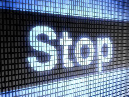 stop Stock Photo - 9830442