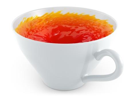 turbulence: tea Stock Photo