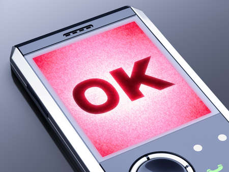It is my own design of mobile phone, therefore you can use this picture for commercial purposes. Stock Photo - 10923091