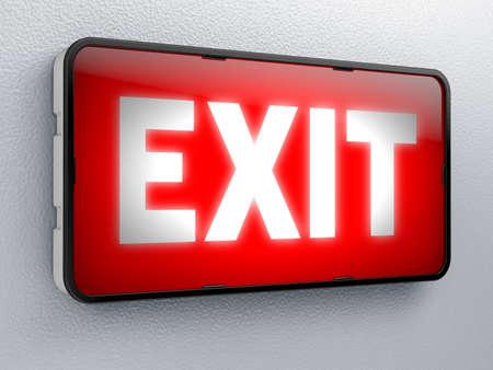 evacuate: exit Stock Photo