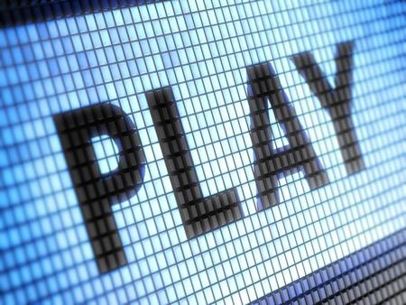오디오: 놀이 스톡 사진
