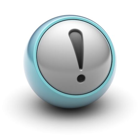 alarm button: attention Stock Photo