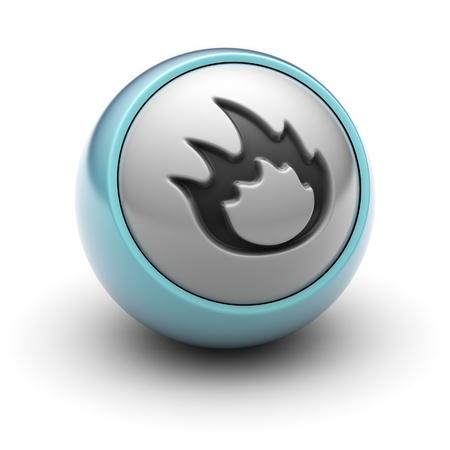 gas ball: flame Stock Photo