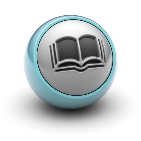 3d button: book