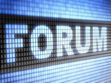 chat window: forum