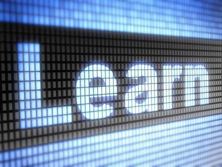 elearn: learn Stock Photo
