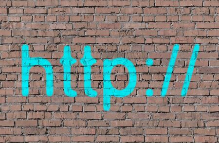 Http on brick seamless wall photo