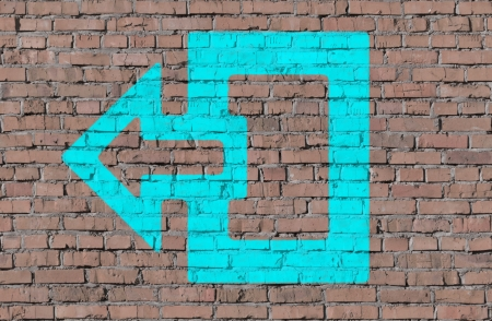 Exit sign on brick seamless wall Stock Photo - 14798954