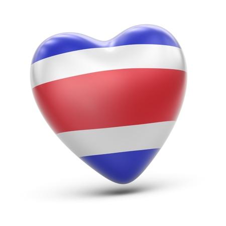 costa rica flag: Costa Rica Stock Photo