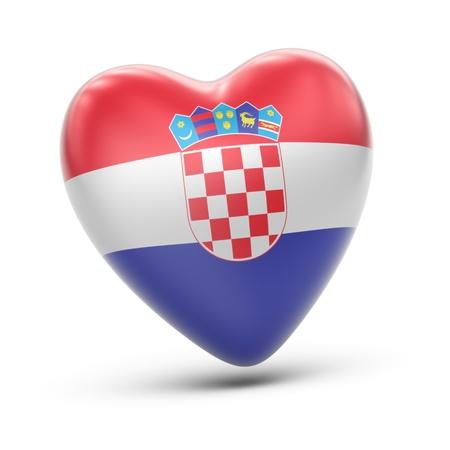 bandera de croacia: Croacia Foto de archivo