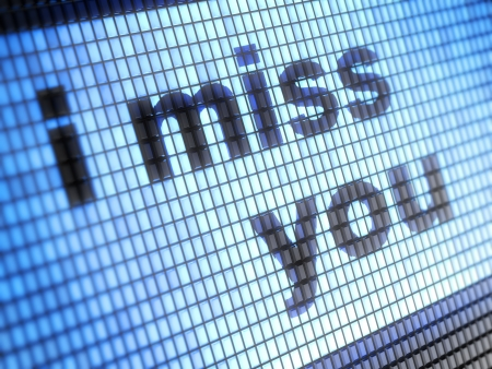 webmail: i miss you Stock Photo