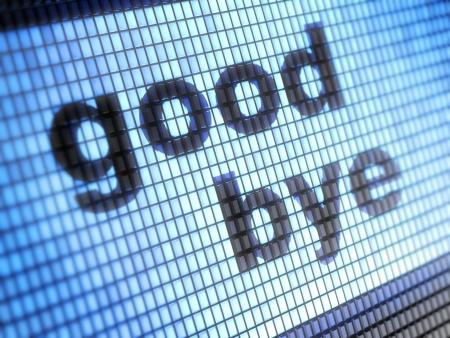good bye: good bye