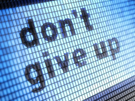 encouragements: don t give up Stock Photo
