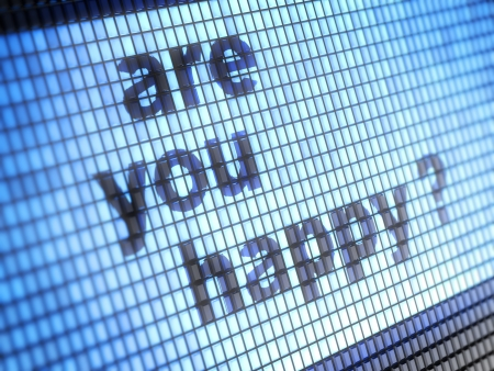 webmail: are you happy   Stock Photo