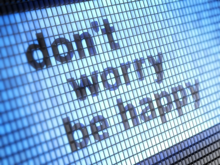 Ne vous inquiétez pas être heureux Banque d'images - 17495556