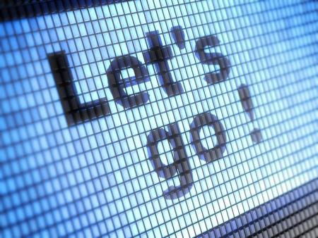 webmail: Let s go Stock Photo