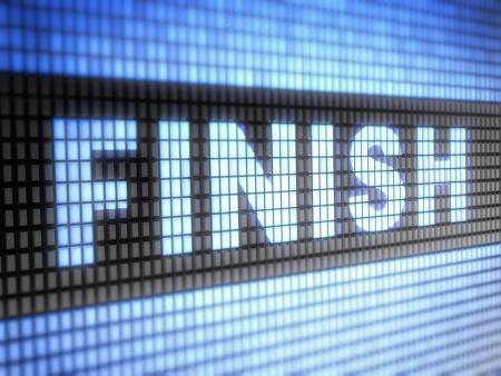 final: finish Stock Photo
