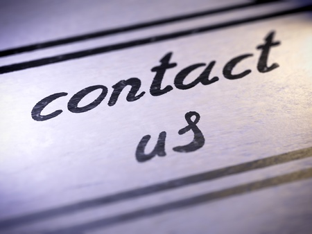 contact us ,  my own font   Stock Photo - 17890452