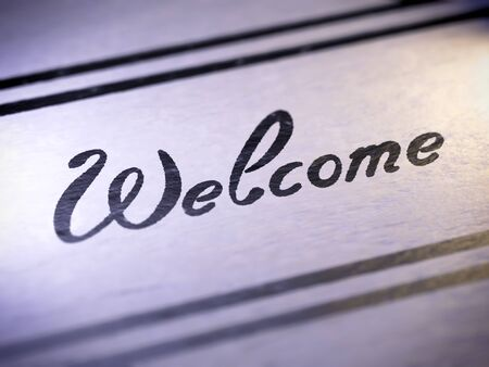 greet: welcome ,  my own font