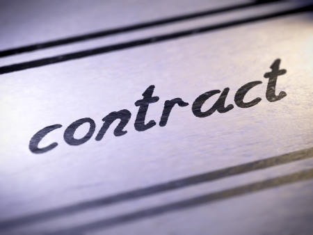 contract ,  my own font   photo