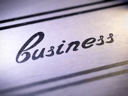 business ,  my own font   photo