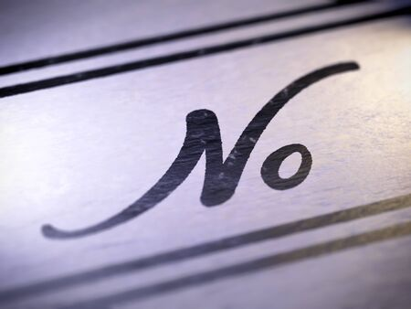 no ,  my own font Stock Photo - 17890438
