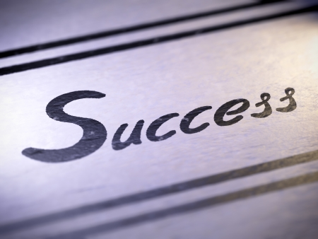 business results: success ,  my own font