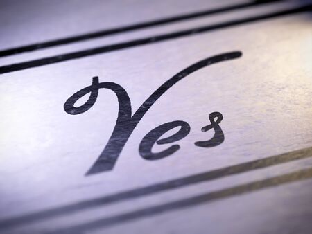 yes ,  my own font Stock Photo - 17890442